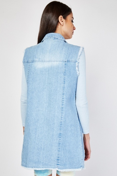 Applique Patch Denim Gilet
