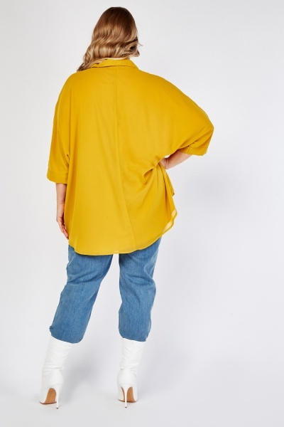 Mustard Batwing Sleeve Top