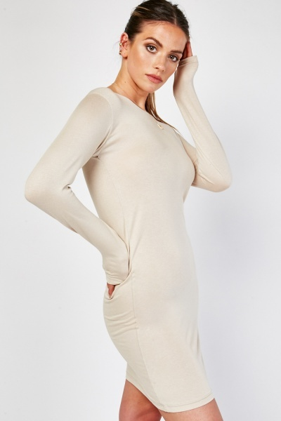 Long Sleeve Mini Bodycon Dress
