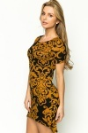 Fleeced Ornate Dress
