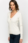 Button Front V-Neck Cardigan