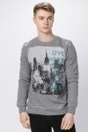 City Skyline Slogan Sweatshirt