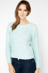 Metallic Cable Knit Pullover