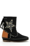 Studded Star Design Boots