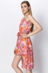 Paint Splash Dip Hem Dress