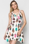 Ice Cream Dipped Hem Dress