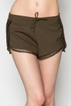 Perforated Trim Shorts