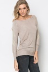 Metallic Sleeve Knit Pullover