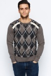 Distressed Diamond Jumper