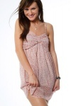 Ruched Bra Chiffon Dress