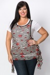 2-In-1 Star Striped Tunic