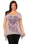 Aztec Heart Dream Catcher Mauve Tunic