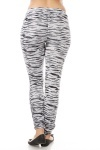 Shiny Ruched Animal Print Leggings