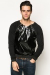 PVC Zipper Detail Pullover