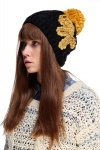 Encrusted Bow Knitted Hat