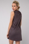 Two Tone Pu Dress