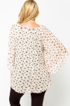 Butterfly Print Batwing Tunic