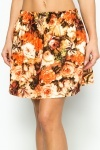 Brushed Floral Skater Skirt