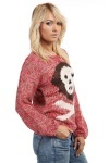 Skull Speckled Knit Jumper