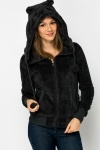 Fleeced Animal Face Hood Jacket