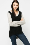 Two Tone Perforated Jumper