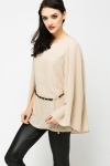 Chain Embellished Batwing Blouse