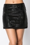 Stud Embellished Mini Skirt
