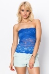 Lace Overlay Bustier Top