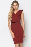 Ruffle Shoulder Smart Dress