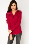 High Neck Zipped Pullover