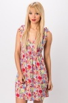 Tie-Up Floral Dress