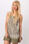Embroidered Trim Tribal Dress