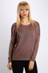 Two Tone Metallic Pullover