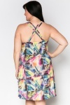 Cross Back Fun Print Dress