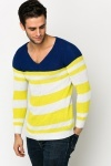 Colourblock Striped Knit Pullover
