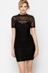 High Neck Lace 2-in-1 Dress
