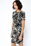 Ink Blot Structured Dress