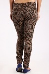 Zebra Print Brown Trousers