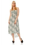 Brush Strokes Pattern Maxi Dress