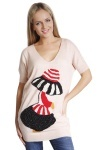 Encrusted Girl Motif Knitted Top