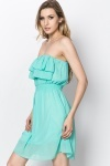 Frilled Bandeau Dress