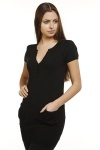 Short Sleeve V-Neck Jumper