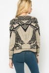 Metallic Blend Tribal Print Cardigan