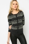 Metallic Trim Cardigan
