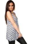 Nautical Stripes Sheer Knit Vest Top