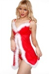 Christmas Themed Chemise & Thong Set