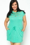 Cut Out Drawstring Tunic Dress