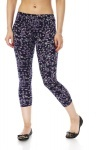 Small Purple Flowers Print Leggings