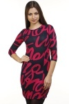 Letter Print Fleece Dress