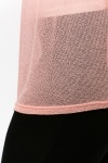 Thin Knit Contrast Trim Tunic